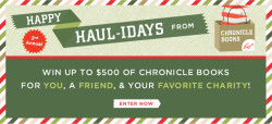 Happy Haul-idays from Chronicle Books