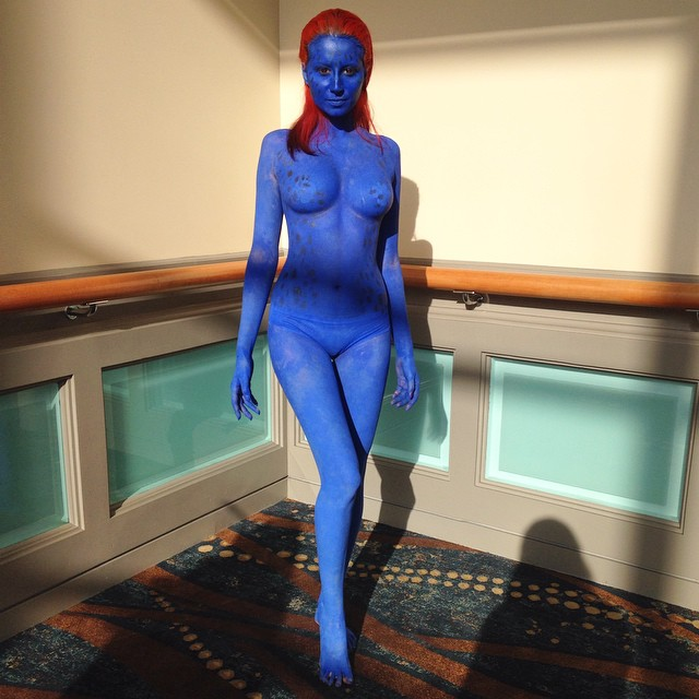 Really good looking Mystique at #lbcc today. #comics