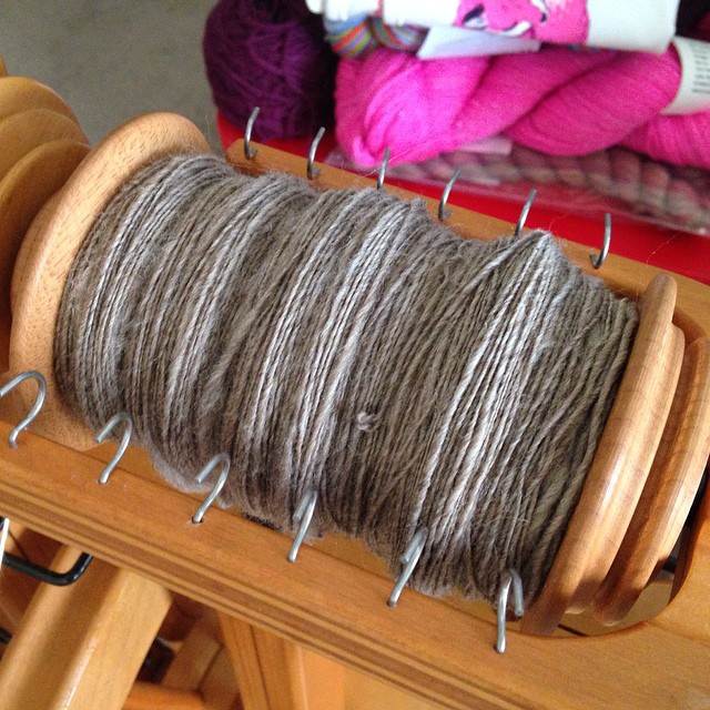 I've been practicing my #spinning. #fiber #knitting #twistedstitches