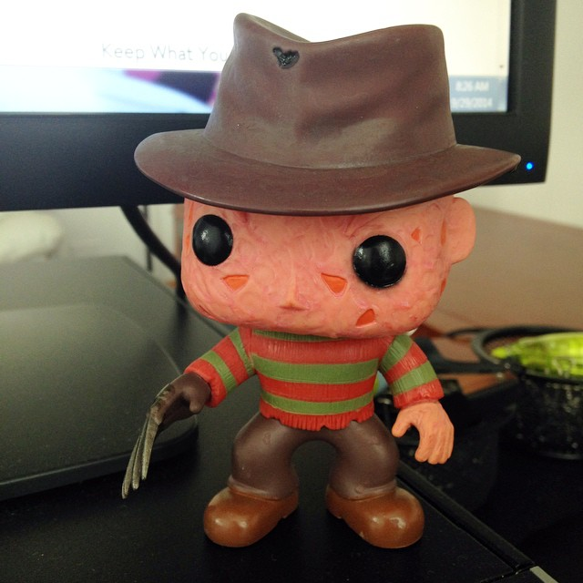 My new office mate. #funko #vinyl #freddykreuger