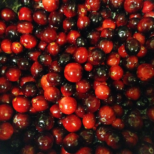 Getting some cranberry sauce made early for thanksgiving next week.