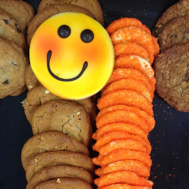 One happy #cookie at the @unwind_yarn holiday party.