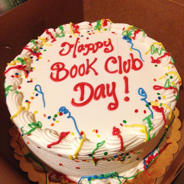 Book club cakes are totally normal, right? #bestbookclubever #cake