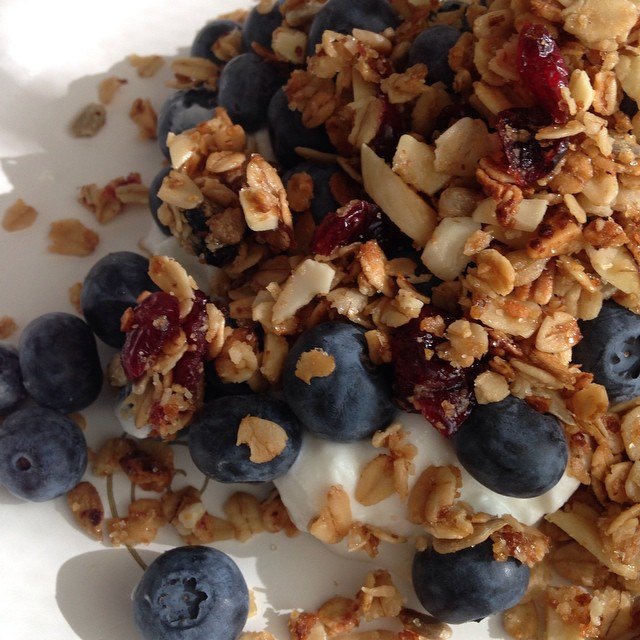 Forgot to post this pic is this morning's breakfast. More granola. #yum #foodporn