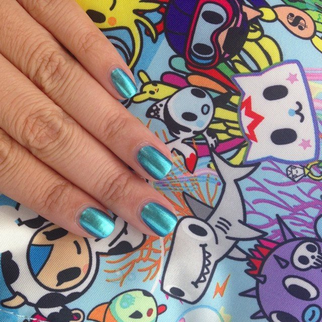 Thanks for my Chanel polish @refinsf. It's so pretty! #tokidoki #hpbloggers #chanel bag from @lneutra by @tokidokibrand